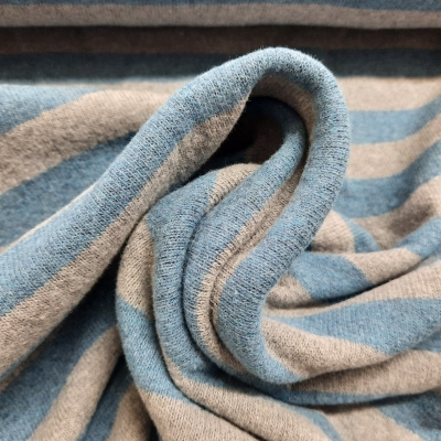 Strickstoff blau grau made in Italy