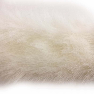 Pelzborte Nerz weiß 5 cm