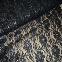 Tüllspitze schwarz elastisch