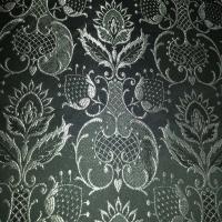 Brokat Damast schwarz silber - 30%