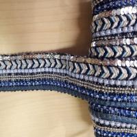 Schmuckborte blau türkis