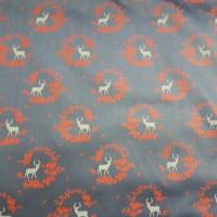 Trachten Baumwolle blau mit Hirschen