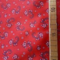 Trachten Baumwolle rot mit Blumenranken