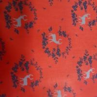 Trachten Baumwolle rot mit Hirschen