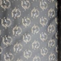 Trachten Baumwolle grau beige mit Hirschen