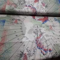Baumwolle mit Weltkarte