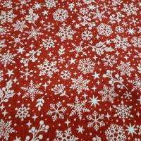 Schneeflocken weiss rot