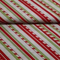 Weihnachten rot grün natur Streifen