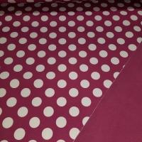Softshell pink mit weissen Tupfen