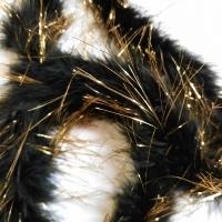 Marabuboa schwarz oder weiss gold