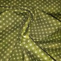 Punkte und Kreise oliv natur