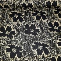 Historical Flowers schwarz creme