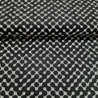 Patchworkbaumwolle Puzzle schwarz weiss