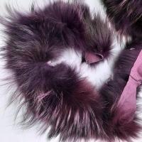 Echt-Pelzborte Waschbär gefärbt