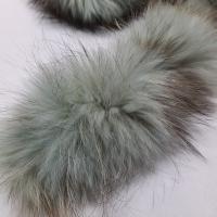 Echt-Pelzborte Waschbär gefärbt eisblau
