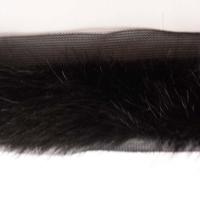 Pelzborte Nerz schwarz 2,5 cm