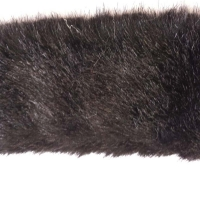 Pelzborte Nerz schwarz 5 cm geschoren
