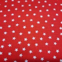 Klassischer Patchworkstoff mit Sternen rot weiss