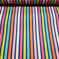 Wunderschöner Patchworkstoff mit farbenfrohen Streifen