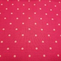 Knalliger Patchworkstoff pink mit Tupfen