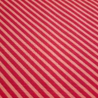 Knalliger Patchworkstoff pink mit Streifen