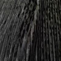Topmodischer Plissee Jacquard schwarz