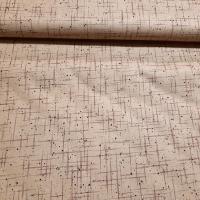 Patchworkstoff beige braun abstrakt