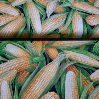 Herbstlicher Patchworkstoff Maiskolben