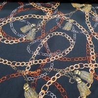 Viskose chain gold grün