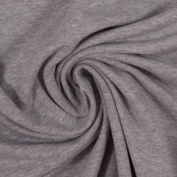 Baumwoll-Jersey melange uni/plain hellgrau