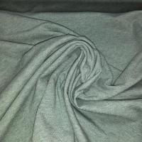Baumwoll-Jersey melange uni/plain eukalyptus