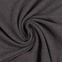 Baumwoll-Jersey melange uni/plain grau