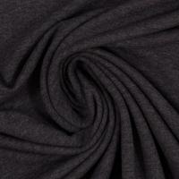 Baumwoll-Jersey melange uni/plain anthrazit