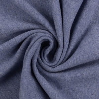 Baumwoll-Jersey melange uni/plain blau