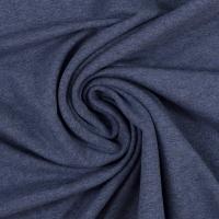 Baumwoll-Jersey melange uni/plain dunkelblau