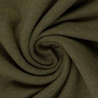 Baumwoll-Jersey melange uni/plain khaki