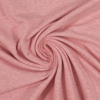 Baumwoll-Jersey melange uni/plain rosa