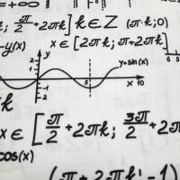 Baumwolle Mathematik Formeln  weiss schwarz