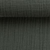 Musselin dunkelgrau Double Gauze Jenke von Swafing Restschrumpfwert 10%