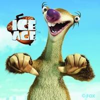Ice Age - Sid gewebte Applikation