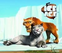 Ice Age - Diego und Shira gewebte Applikation