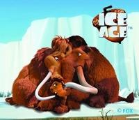 Ice Age - Mammuts gewebte Applikation