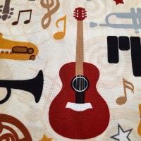 Patchworkstoff Musikinstrumente