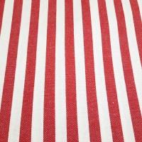 Baumwollköper Streifen rot weiss