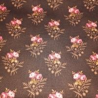 Blümchenboquets rosa creme auf braun