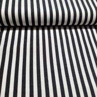 Baumwollköper Streifen schwarz weiss
