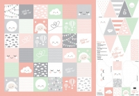 Panel-Welcome little One – Baby DIY-SET by Lycklig Design - Rosa