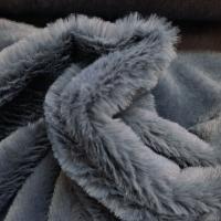 Fellimitat kuschelig grau Plüsch