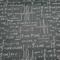 Baumwolle Mathematik Formeln schwarz  weiss
