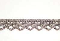 Klöppelspitze taupe 1 cm